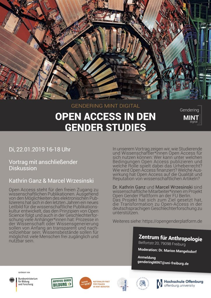 Plakat Open Access in den Gender Studies in Freiburg