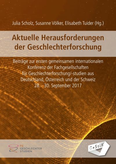 Cover Tagungsband Aktuelle Herausforderungen der Geschlechterforschung
