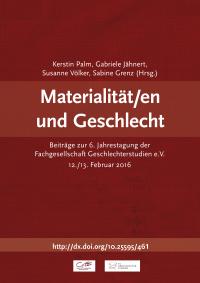 Roter Tagungsband Materialität/en und Geschlecht